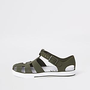 Boys khaki jelly sandals