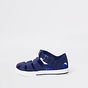 de57aa03171 Sandales en plastique bleu marine pour mini garçon