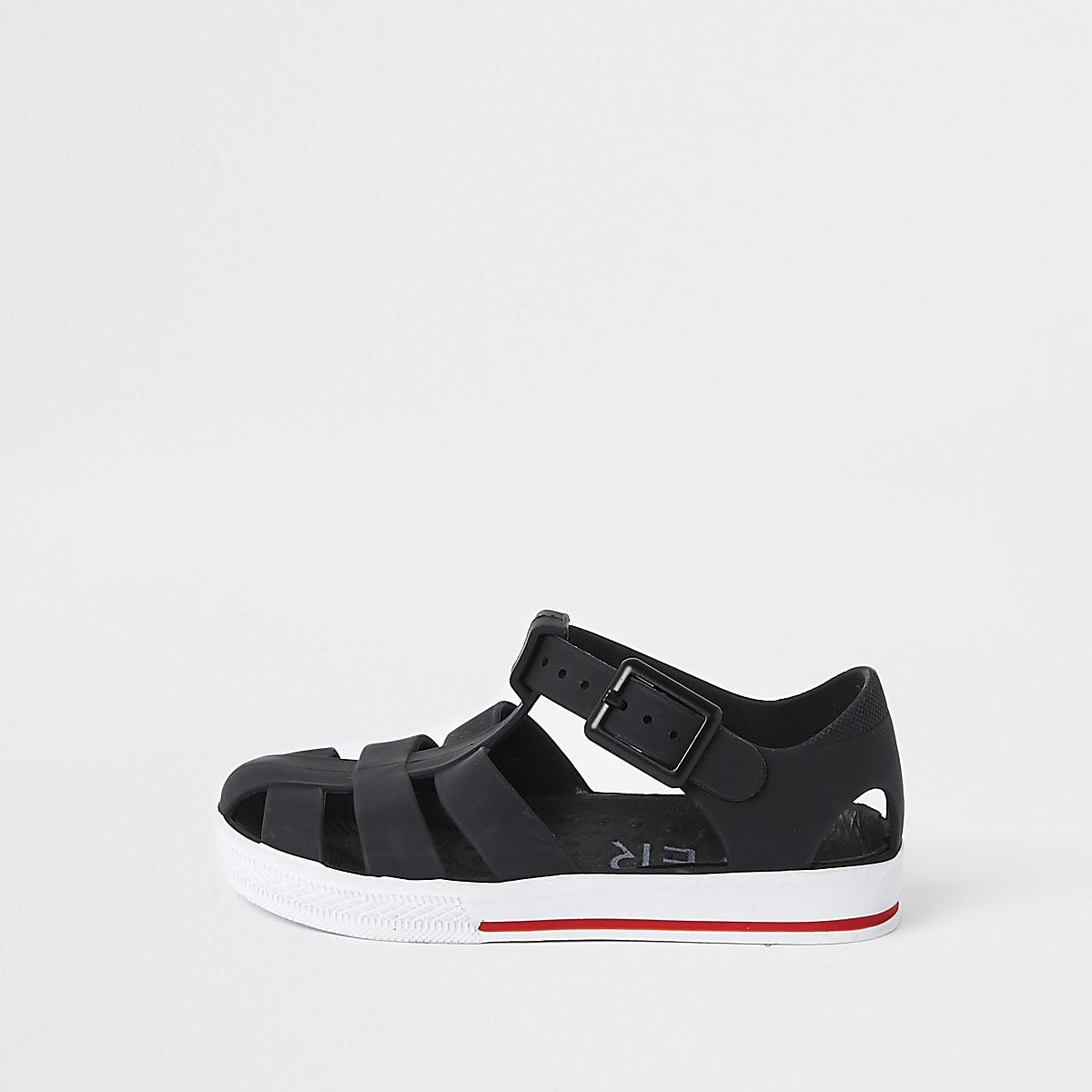 2aae627308c3a Sandales en plastique noires effet cage pour mini garçon - Sandales ...