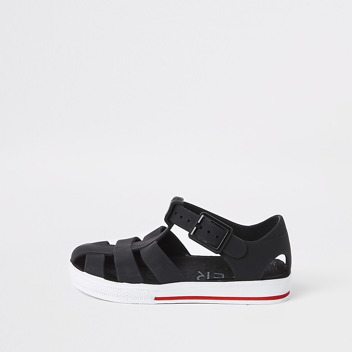 Mini - Zwarte jelly sandaletten voor jongens