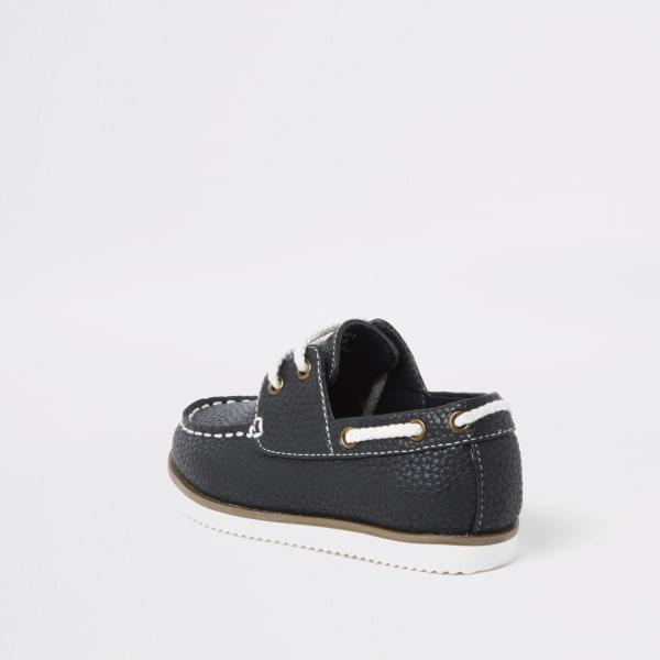 River Island - chaussures bateau  texturées à lacets mini - 3