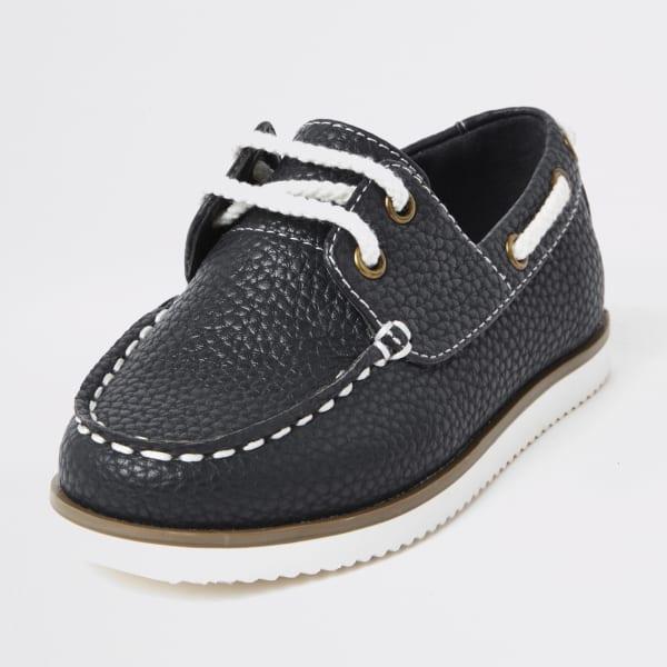 River Island - chaussures bateau  texturées à lacets mini - 4