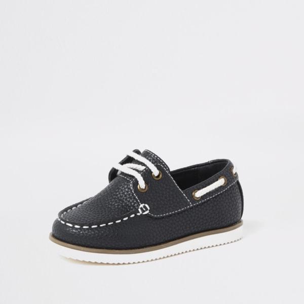 River Island - chaussures bateau  texturées à lacets mini - 2
