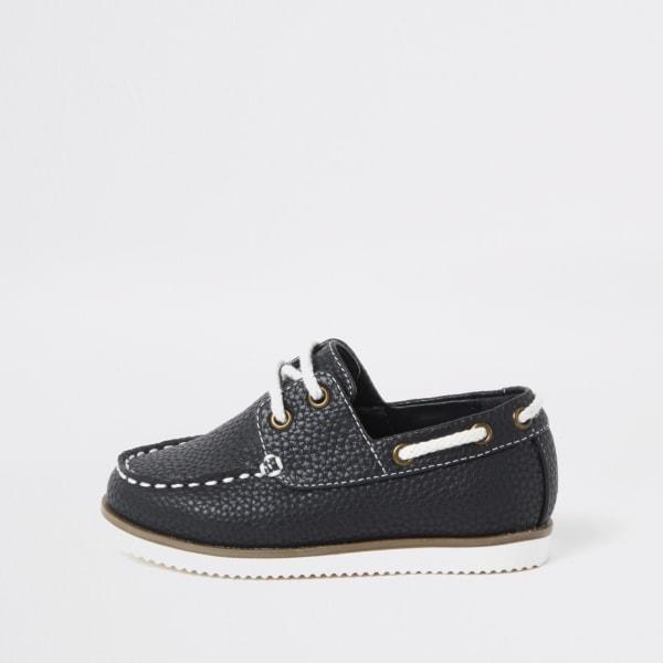 River Island - chaussures bateau  texturées à lacets mini - 1