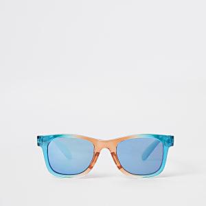 Lunettes de soleil rétro arc-en-ciel à verres bleus pour mini garçon