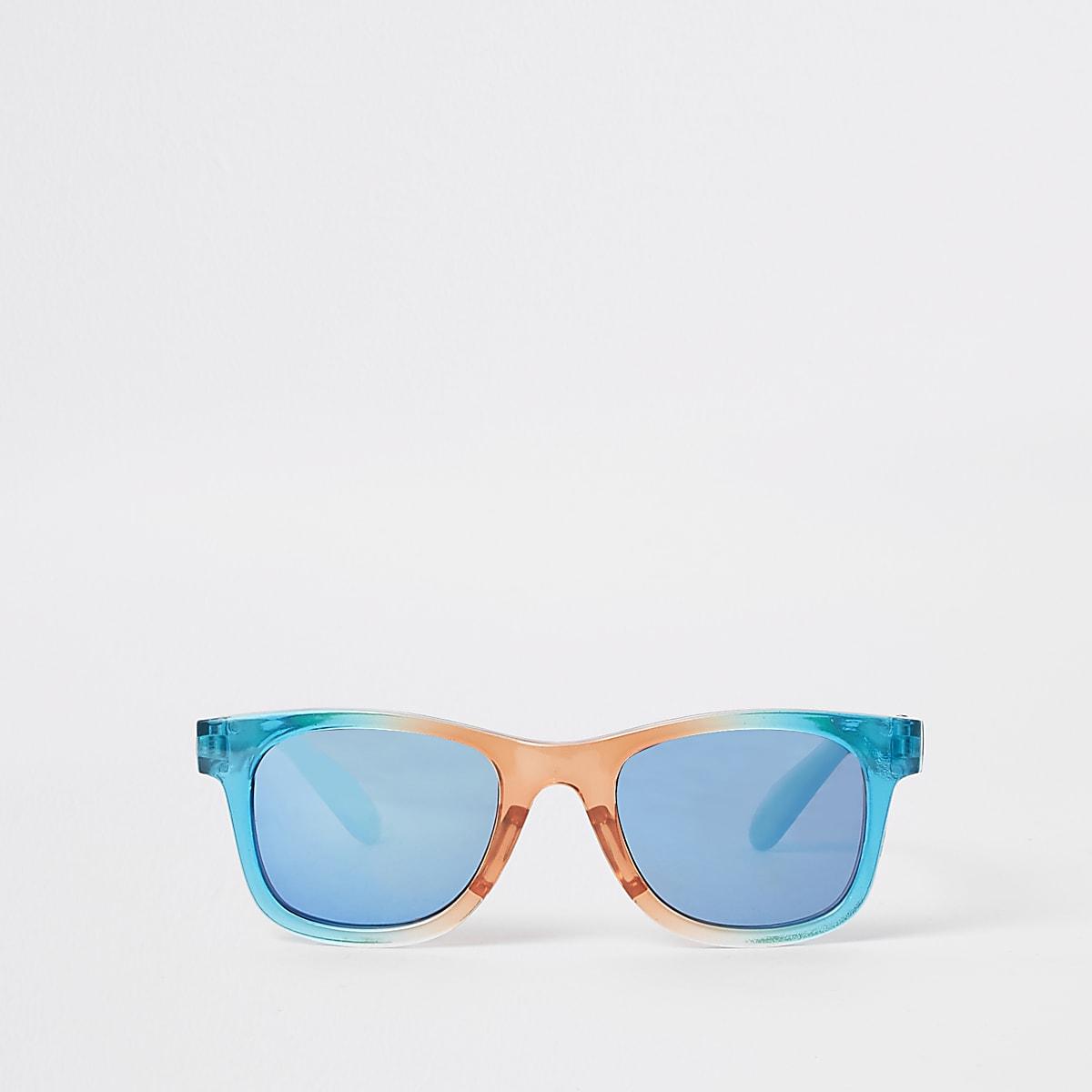 Mini boys rainbow retro blue lens sunglasses