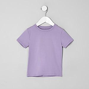 Mini - Paars T-shirt voor jongens