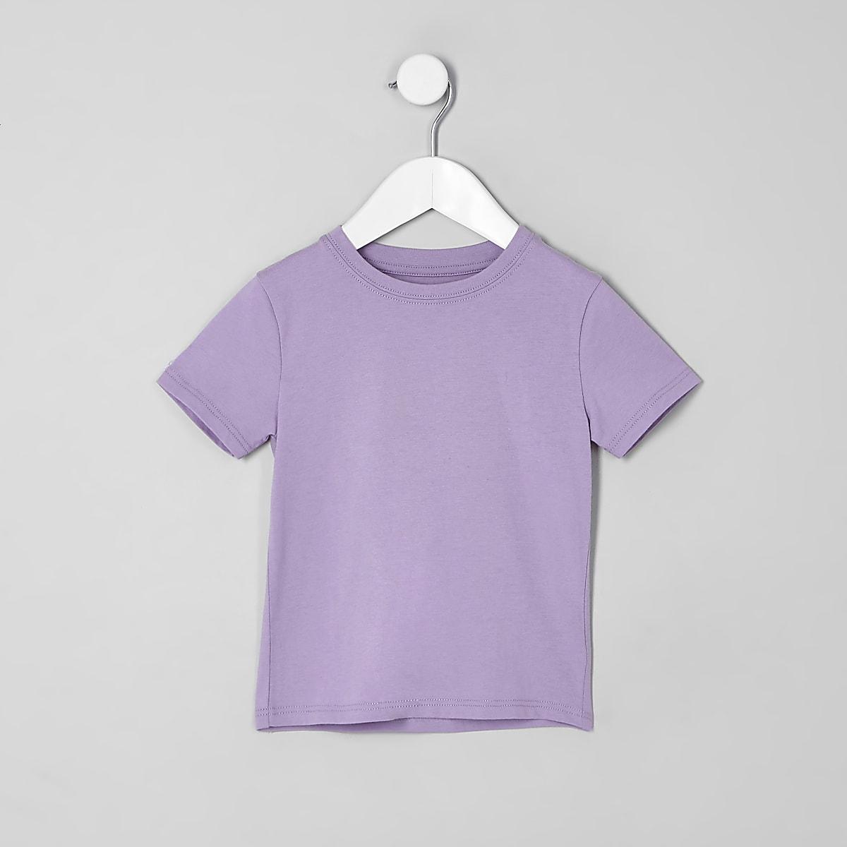 Mini boys purple T-shirt