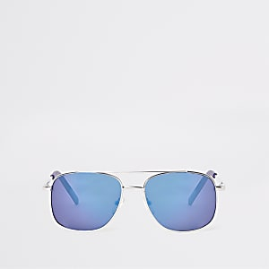 Boys silver tone blue lens sunglasses