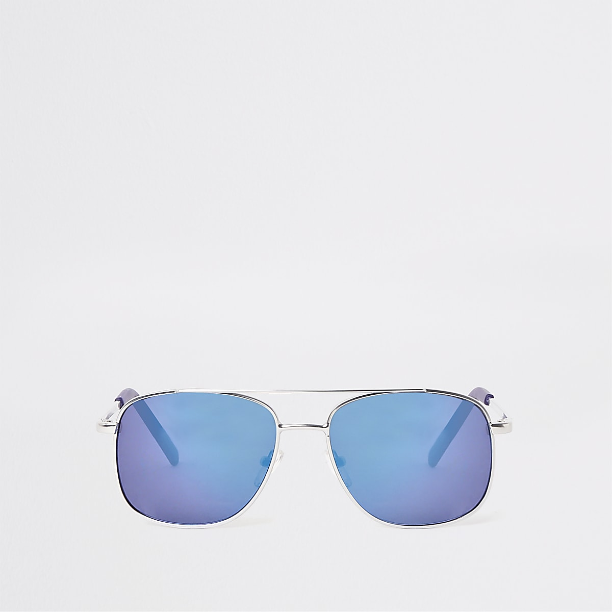 Boys silver tone blue lens sunglasses
