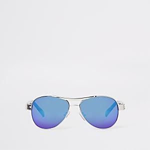 Zilverkleurige pilotenzonnebril voor jongens