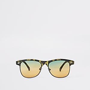 Boys khaki camo flat top sunglasses