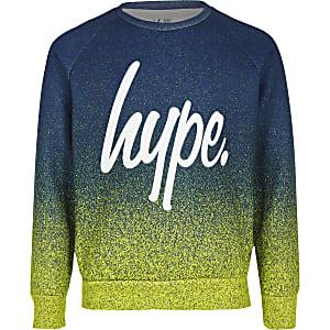 Hype - Groen sweatshirt met vervaagde spattenprint voor jongens