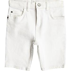 Sid – Weiße Skinny Jeansshorts