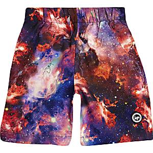 Boys black Hype space swim shorts