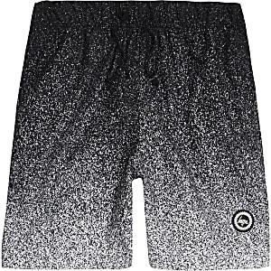 Hype - Zwarte zwemshort met vervaagde spikkelprint voor jongens