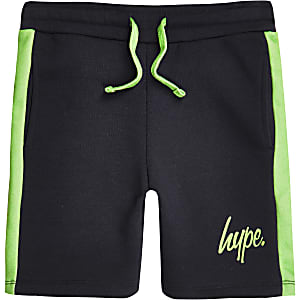 Boys navy Hype jersey shorts