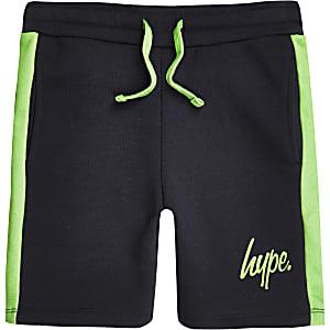 Hype – Marineblaue Jersey-Shorts