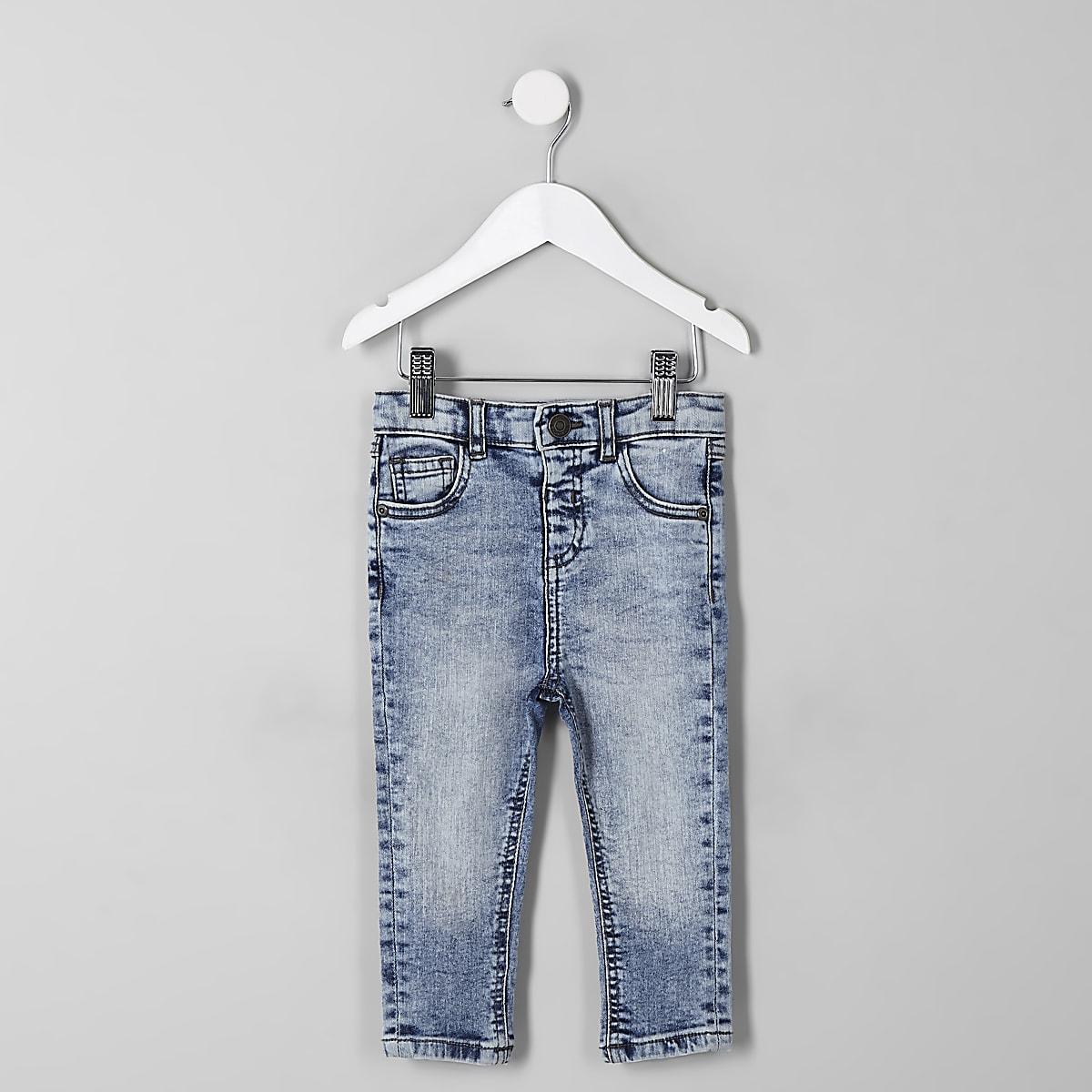 Mini boys light blue Sid skinny jeans