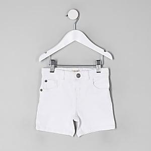 Mini boys white Dylan skinny denim shorts