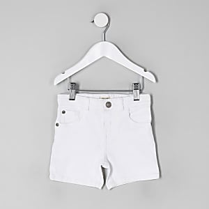 Dylan - Mini - Witte skinny denim short voor jongens