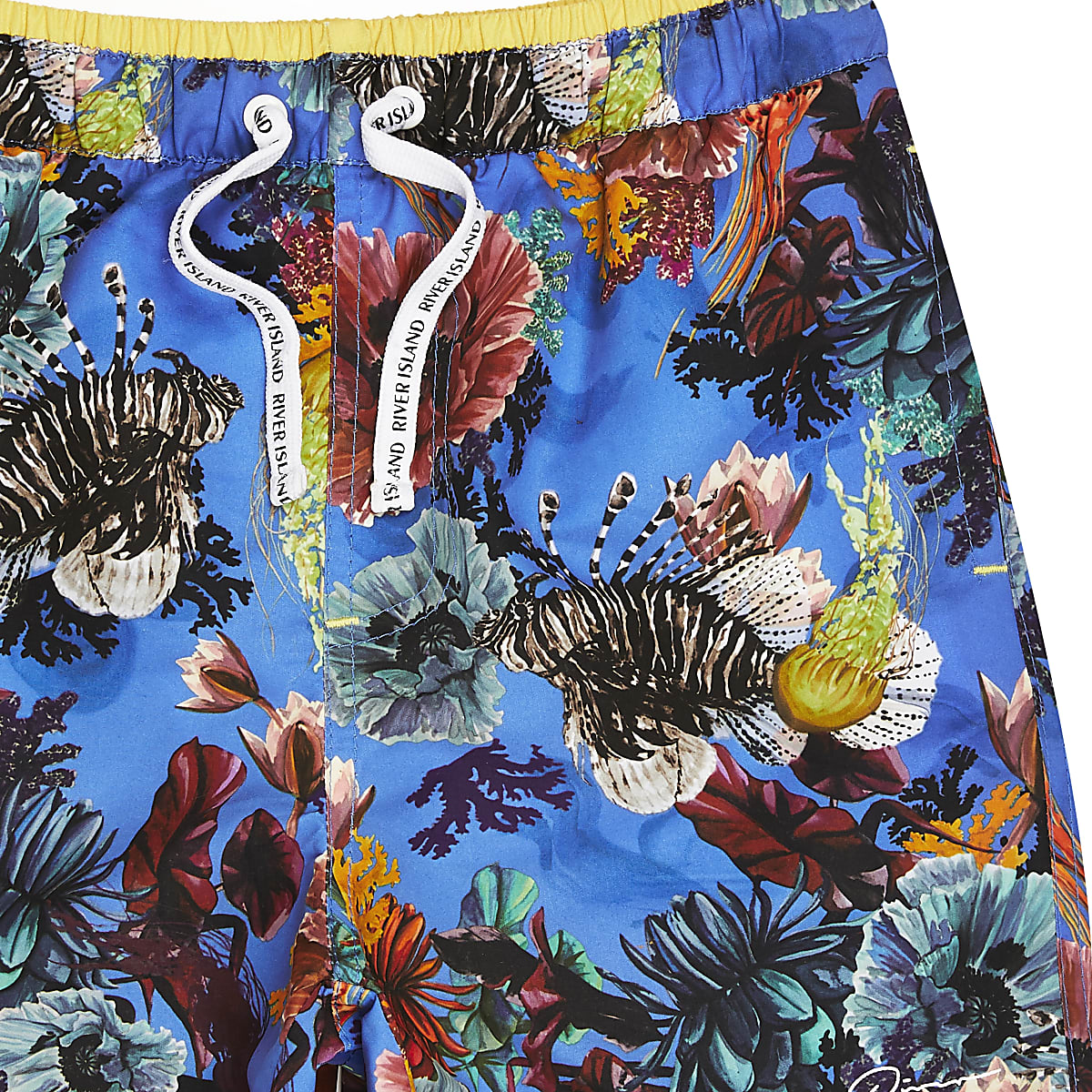 b3071e1ba3 Boys blue ocean print runner swim shorts - Swim Shorts - boys