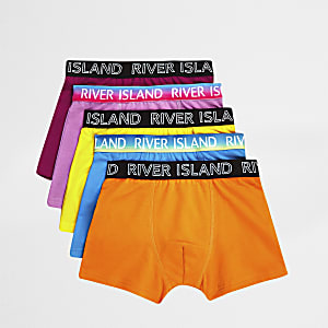 Boys bright orange boxers multipack