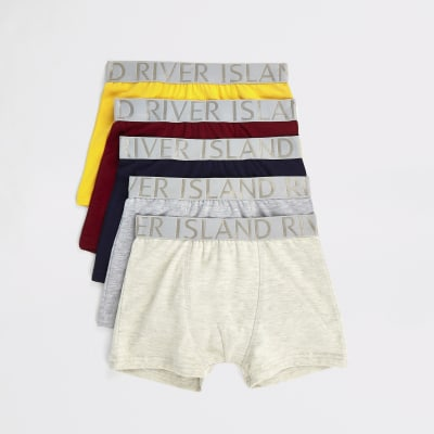 Boys Mixed Coloured Boxers Multipack by River Island