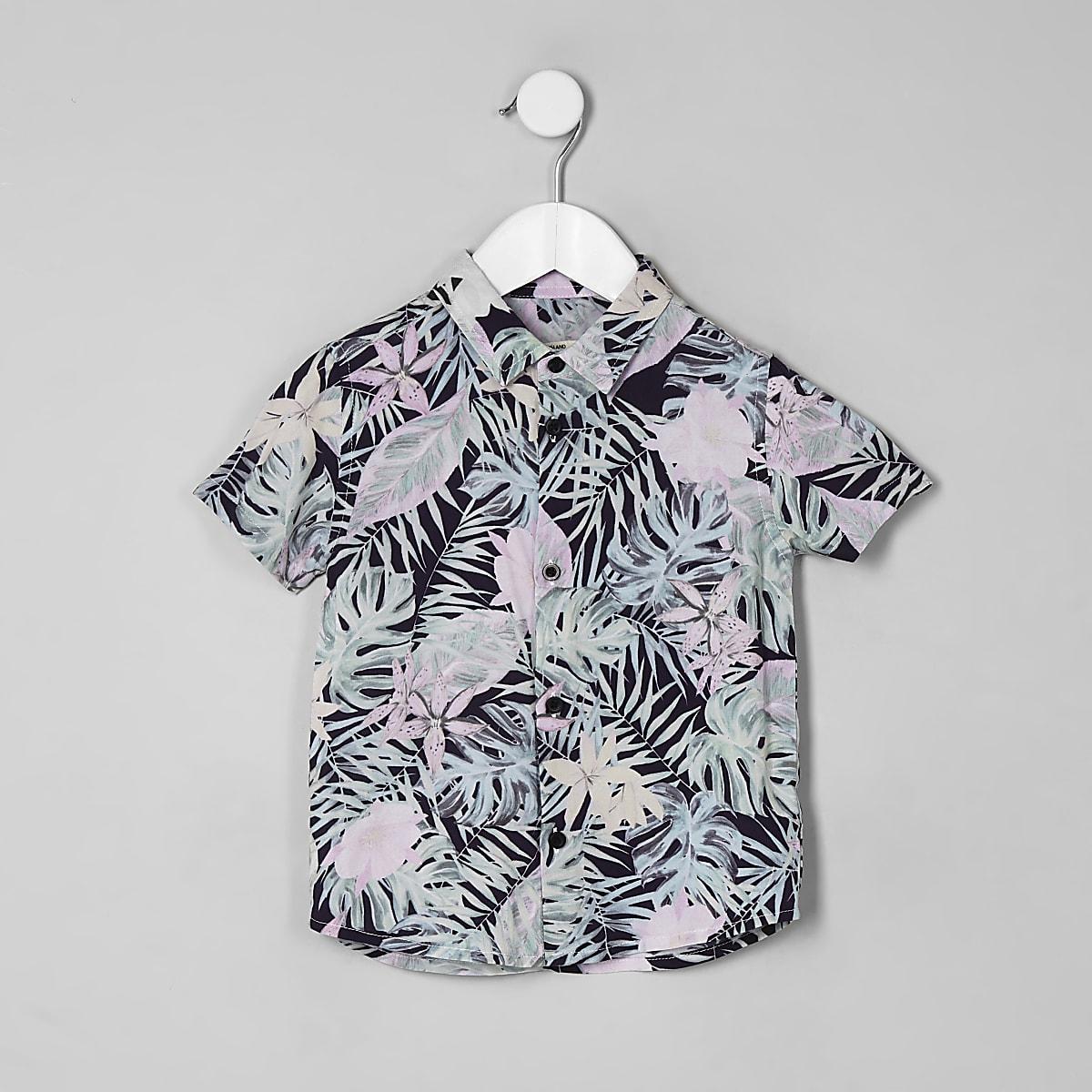 Gebloemd Overhemd.Mini Roze Gebloemd Overhemd Met Korte Mouwen Voor Jongens