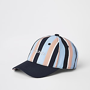 Boys blue pastel stripe cap