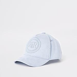 Mini boys blue RI crest baseball cap