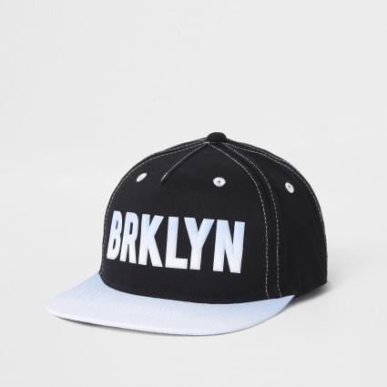 Mini boys black 'Brkyln' snapback cap