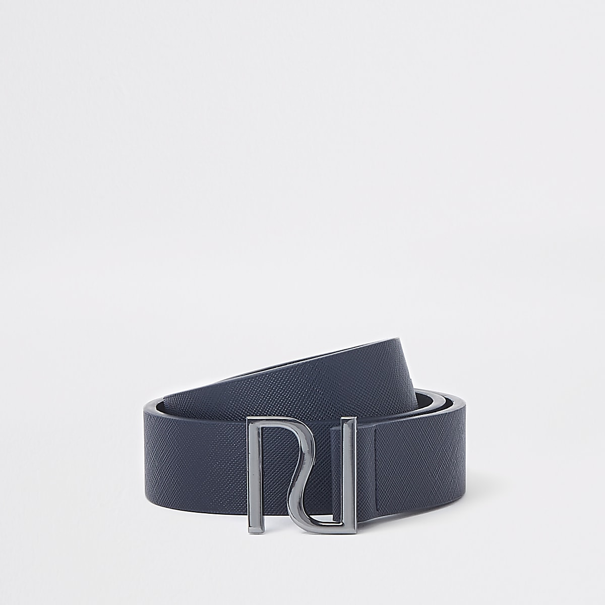 Boys navy RI buckle belt