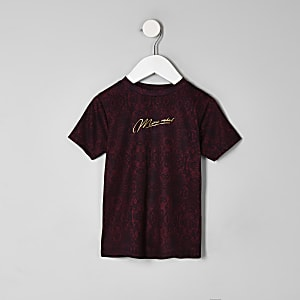 Mini boys burgundy 'Mini rebel' T-shirt