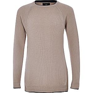 Boys pink RI knit sweater