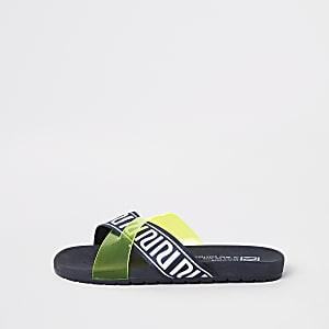 Gele slippers met RI-logo voor jongens