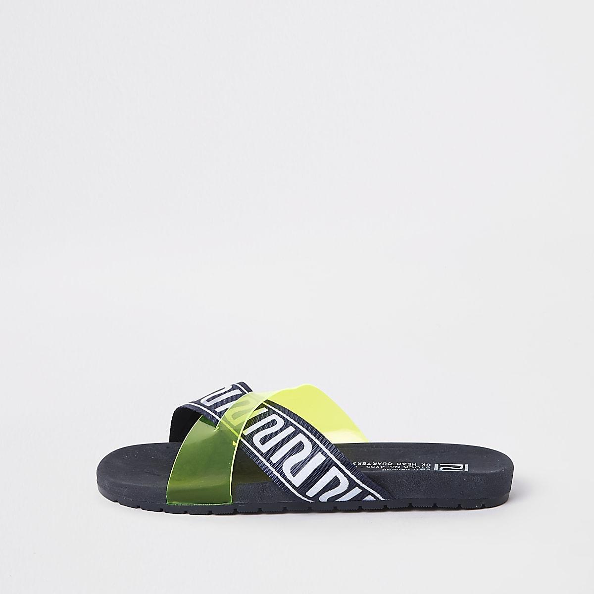 e76ada4200fa9d Gele slippers met RI-logo voor jongens - Sandalen - Schoenen - Jongens