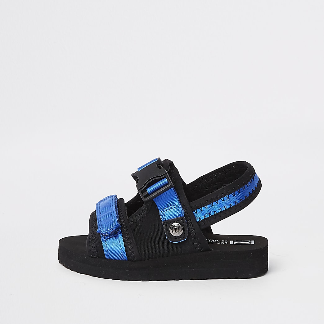 Mini boys blue Velcro sandals