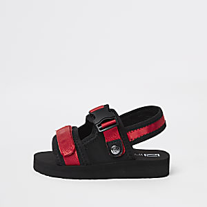 Mini boys red Velcro sandals
