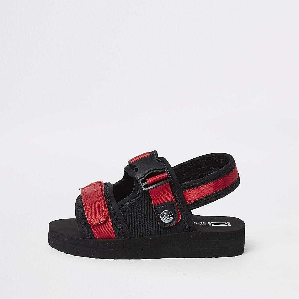 Mini boys red Velcro sandals