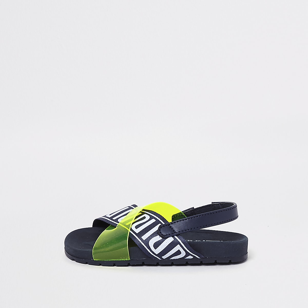 Mini kids yellow cross RI sliders