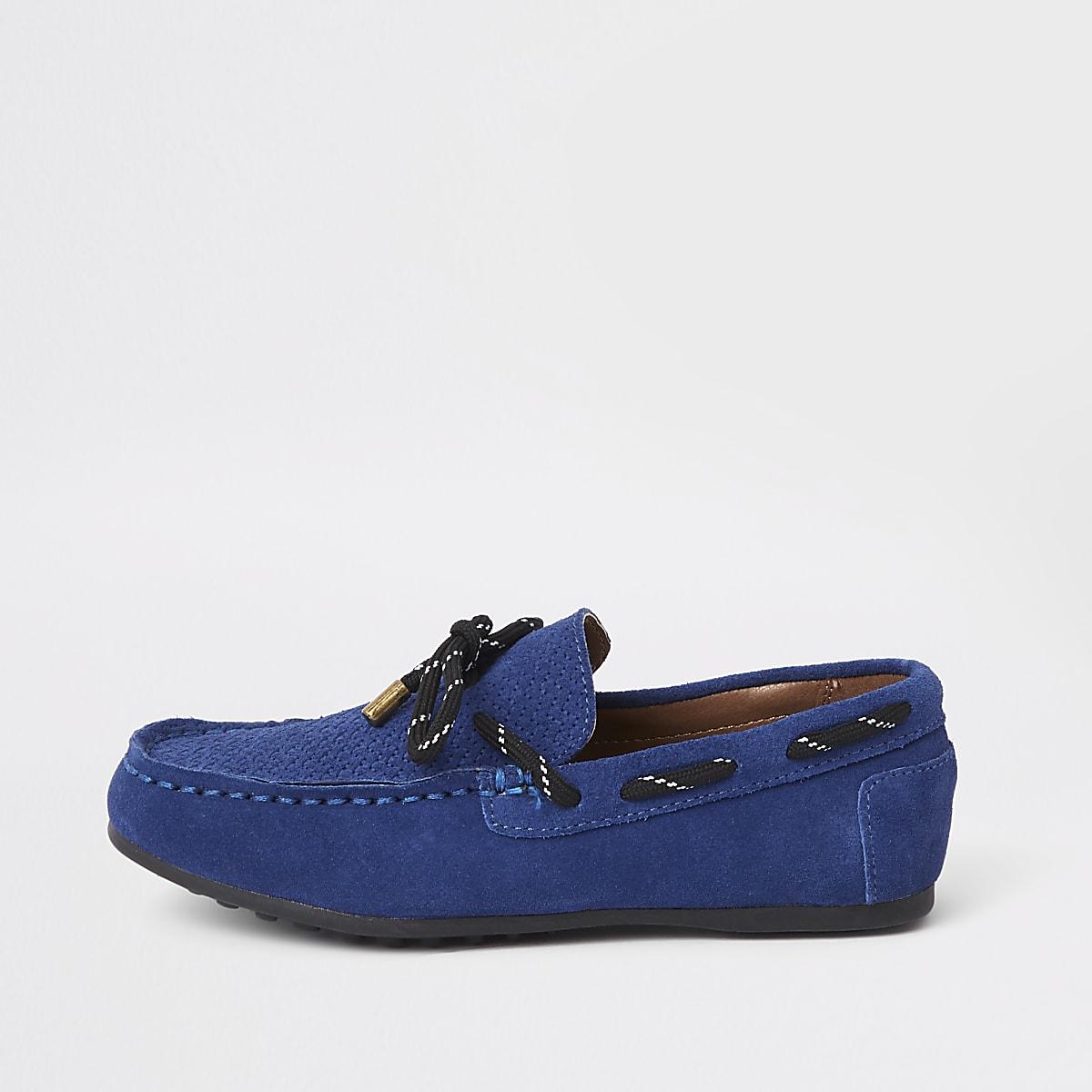 Boys blue driver shoes
