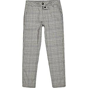 Grijze geruite skinny broek voor jongens