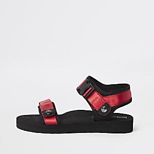 Sandales rouges à Velcro pour garçon