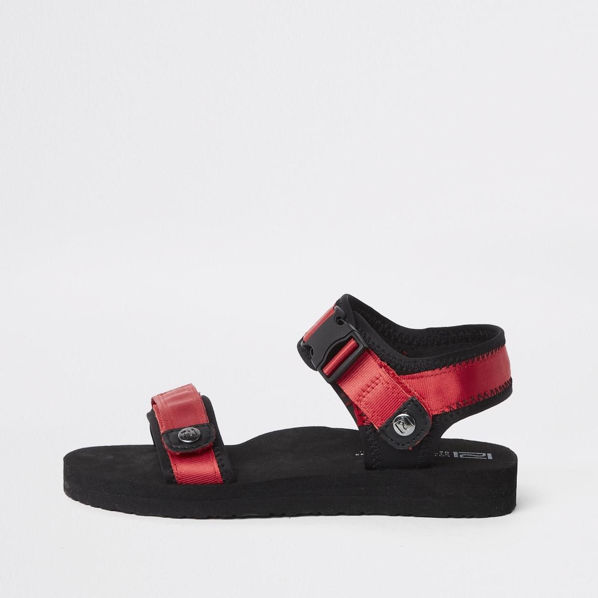 Boys red Velcro sandals