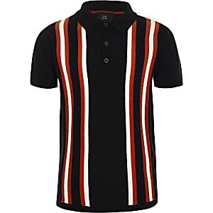 0d6c554f8881 Boys navy stripe polo shirt