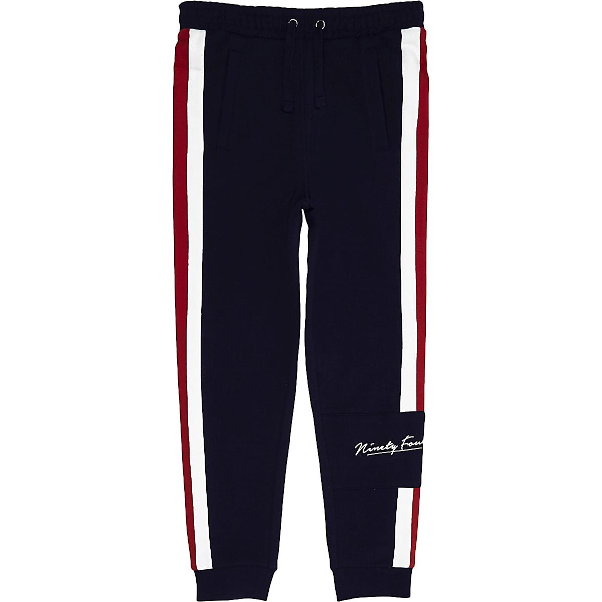 654443d72485e Pantalon de jogging bleu marine à bande pour garçon - Pantalons de ...