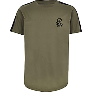"T-Shirt in Khaki ""R96"""