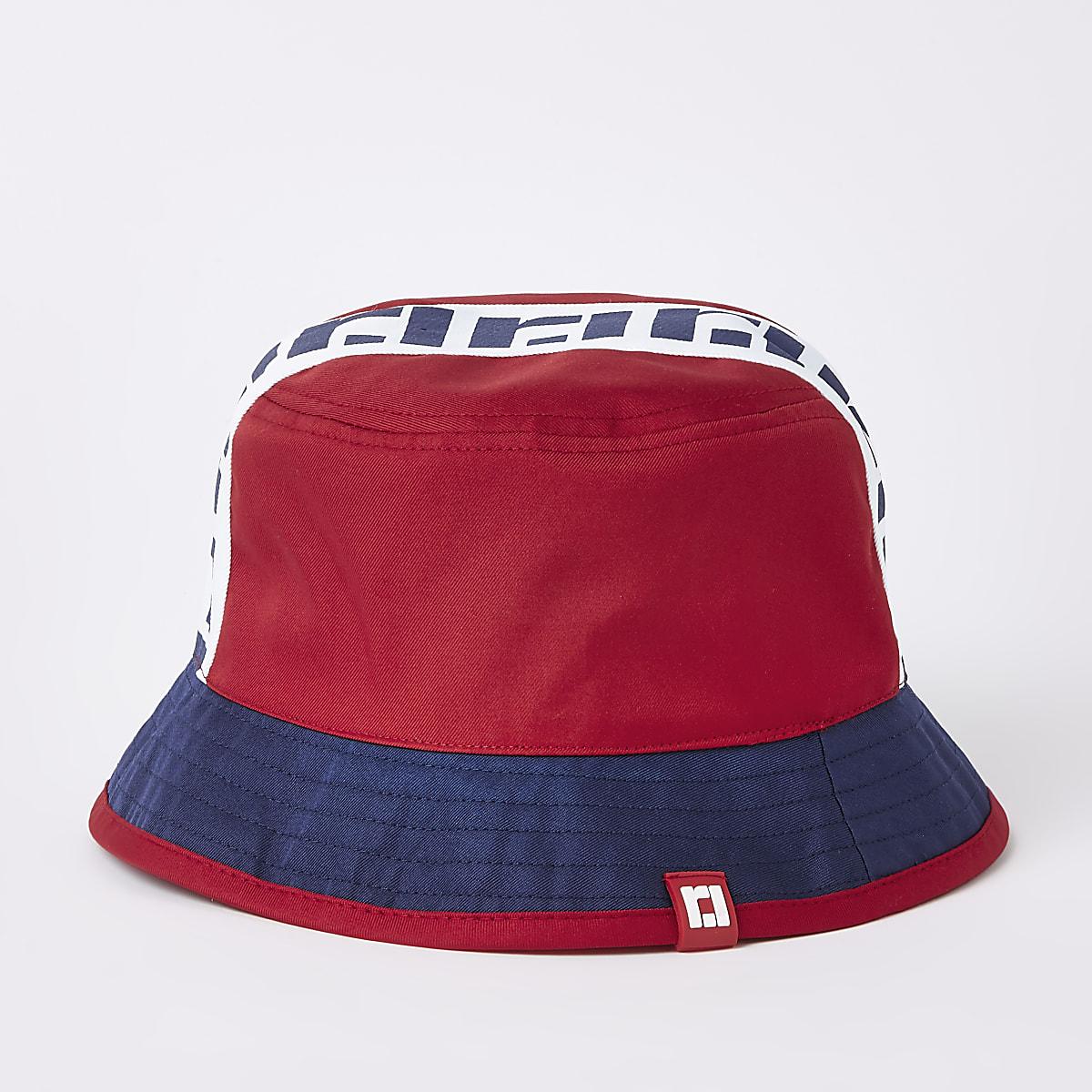 147b3b4af Boys red RI reversible bucket hat