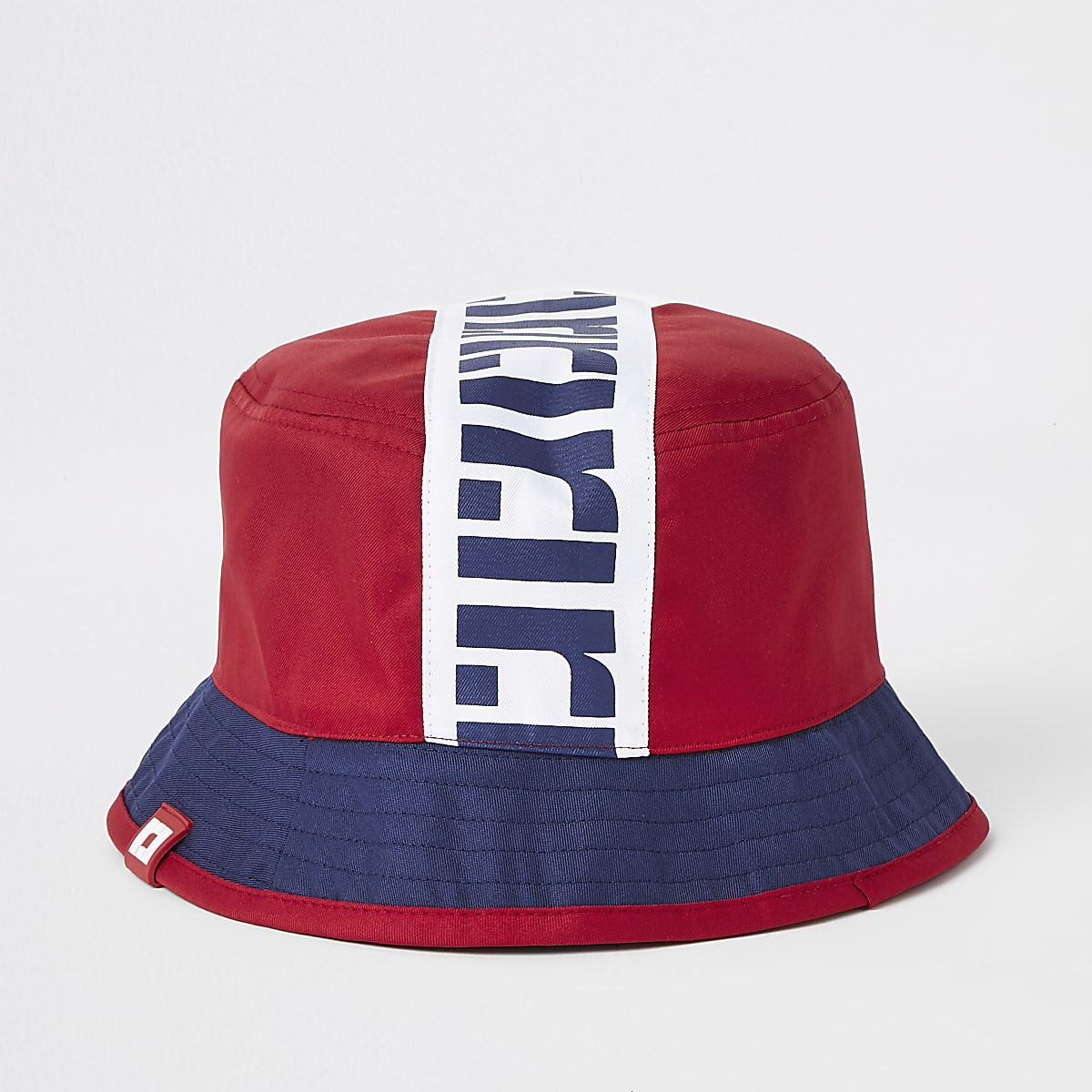 Boys red RI reversible bucket hat